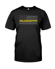 Delaware police dispatcher shirt thin gold line Classic T-Shirt front