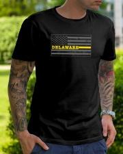 Delaware police dispatcher shirt thin gold line Classic T-Shirt lifestyle-mens-crewneck-front-7