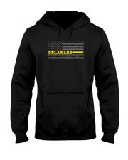 Delaware police dispatcher shirt thin gold line Hooded Sweatshirt thumbnail