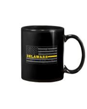 Delaware police dispatcher shirt thin gold line Mug thumbnail