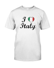 I love Italy - Heart Flag Classic T-Shirt front
