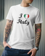 I love Italy - Heart Flag Classic T-Shirt lifestyle-mens-crewneck-front-6