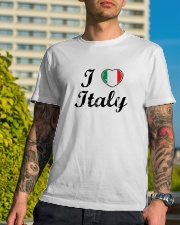 I love Italy - Heart Flag Classic T-Shirt lifestyle-mens-crewneck-front-8