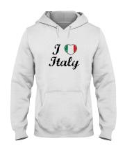 I love Italy - Heart Flag Hooded Sweatshirt thumbnail