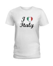 I love Italy - Heart Flag Ladies T-Shirt thumbnail