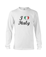 I love Italy - Heart Flag Long Sleeve Tee thumbnail