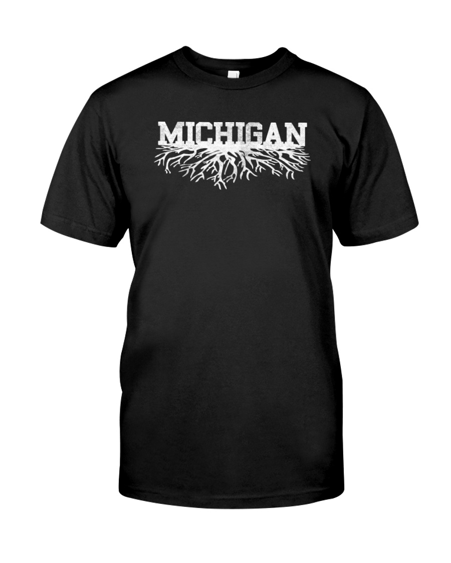 Michigan rooted roots raised Classic T-Shirt