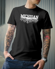 Michigan rooted roots raised Classic T-Shirt lifestyle-mens-crewneck-front-6
