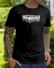 Michigan rooted roots raised Classic T-Shirt lifestyle-mens-crewneck-front-7