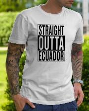 Straight outta Ecuador Classic T-Shirt lifestyle-mens-crewneck-front-7