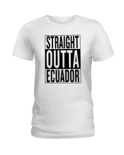 Straight outta Ecuador Ladies T-Shirt thumbnail
