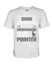 And On The 8th Day God Made A Pointer Shirt V-Neck T-Shirt thumbnail