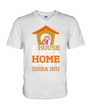 A House Is Not A Home Without A Shiba Inu Dog Shir V-Neck T-Shirt thumbnail
