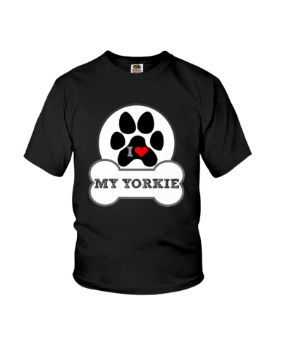 i love my yorkie dog T shirt
