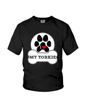 i love my yorkie dog T shirt Youth T-Shirt front