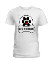 i love my yorkie dog T shirt Ladies T-Shirt thumbnail