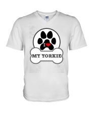 i love my yorkie dog T shirt V-Neck T-Shirt thumbnail
