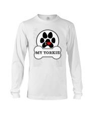 i love my yorkie dog T shirt Long Sleeve Tee thumbnail