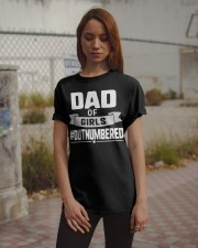Dad of girls outnumbered  Classic T-Shirt apparel-classic-tshirt-lifestyle-18