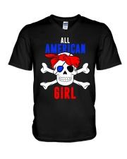 ALL AMERICAN GIRL V-Neck T-Shirt thumbnail