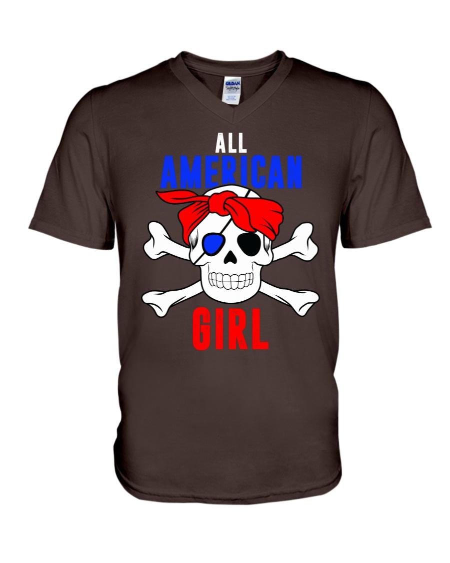 ALL AMERICAN GIRL V-Neck T-Shirt