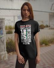 July 4th Juneteenth 1865 because my ancestors Classic T-Shirt apparel-classic-tshirt-lifestyle-18