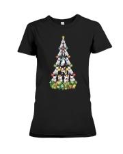 CHRISTMAS TEES FOR BULL TERRIER LOVER Premium Fit Ladies Tee thumbnail