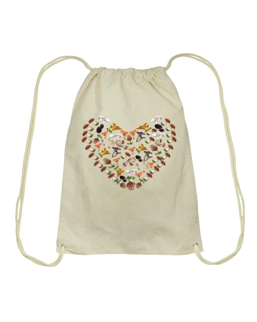 mushroom lover Drawstring Bag