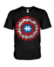 AUTISM AUTISM AUTISM AUTISM AUTISM AUTISM  V-Neck T-Shirt thumbnail