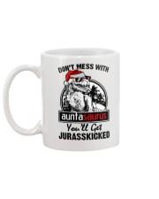 DONT MESS WITH AUNTASAURUS Mug back