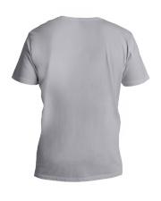 DONT MESS WITH NANASAURUS V-Neck T-Shirt back