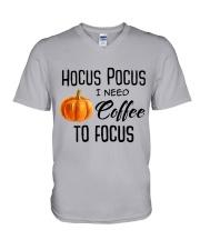 I NEED COFFEE TO FOCUS V-Neck T-Shirt thumbnail