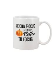 I NEED COFFEE TO FOCUS Mug front