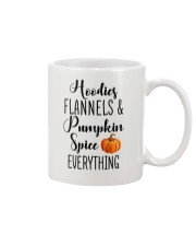 HOODIES FLANNELS AND PUMPKIN SPICE EVERYTHING Mug front
