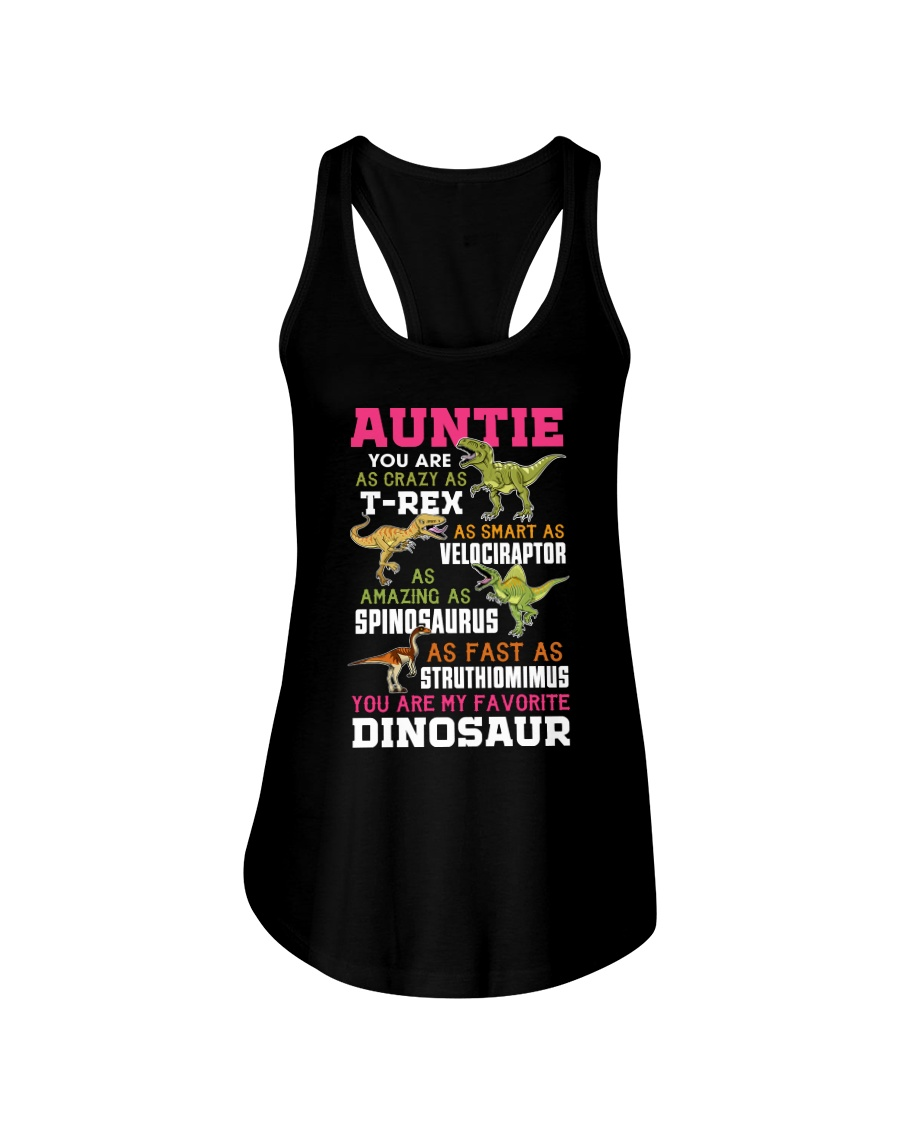 AUNTIE - YOU ARE MY FAVORITE DINOSAUR Ladies Flowy Tank