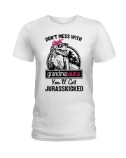 DONT MESS WITH GRANDMASAURUS Ladies T-Shirt thumbnail