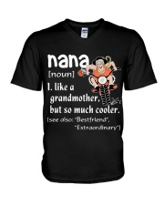 NANA - LIKE A GRANDMOTHER BUT SO MUCH COOLER V-Neck T-Shirt thumbnail