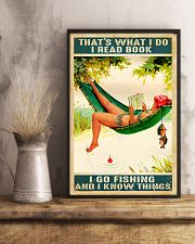 Fishing She Lived Happily Ever After 11x17 Poster lifestyle-poster-3