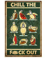 Turtle Yoga Chill The Fck Out 11x17 Poster front
