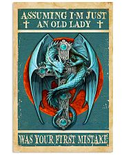 Old Lady Love Blue Dragon 11x17 Poster front