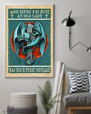 Old Lady Love Blue Dragon 11x17 Poster lifestyle-poster-1