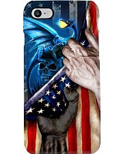 Dragon And Skull United State Flag Phone Case i-phone-8-case