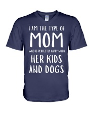 Happy Mom Shirts V-Neck T-Shirt front