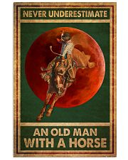 Never Underestimate An Old Man With A Horse 11x17 Poster front