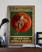 Never Underestimate An Old Man With A Horse 11x17 Poster lifestyle-poster-2