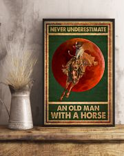 Never Underestimate An Old Man With A Horse 11x17 Poster lifestyle-poster-3