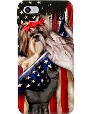 Love Shih Tzu United State Flag Phone Case i-phone-8-case