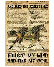 Horse And Into The Forest I Go To Lose Mind My 11x17 Poster front