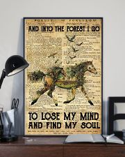 Horse And Into The Forest I Go To Lose Mind My 11x17 Poster lifestyle-poster-2