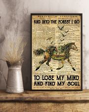 Horse And Into The Forest I Go To Lose Mind My 11x17 Poster lifestyle-poster-3